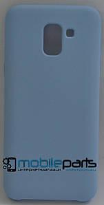 Оригинальный Силиконовый Чехол для Samsung Galaxy J6 2018 (Голубой)