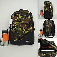 Тканевый школьный рюкзакс косым карманом и принтом 45*32*15см, фото 1