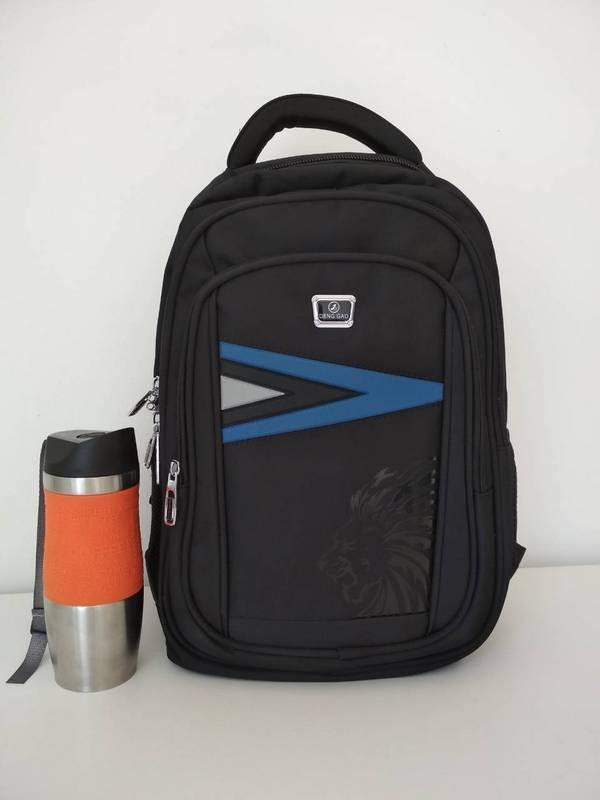 Черный школьный рюкзак для мальчик 46*16*30 см