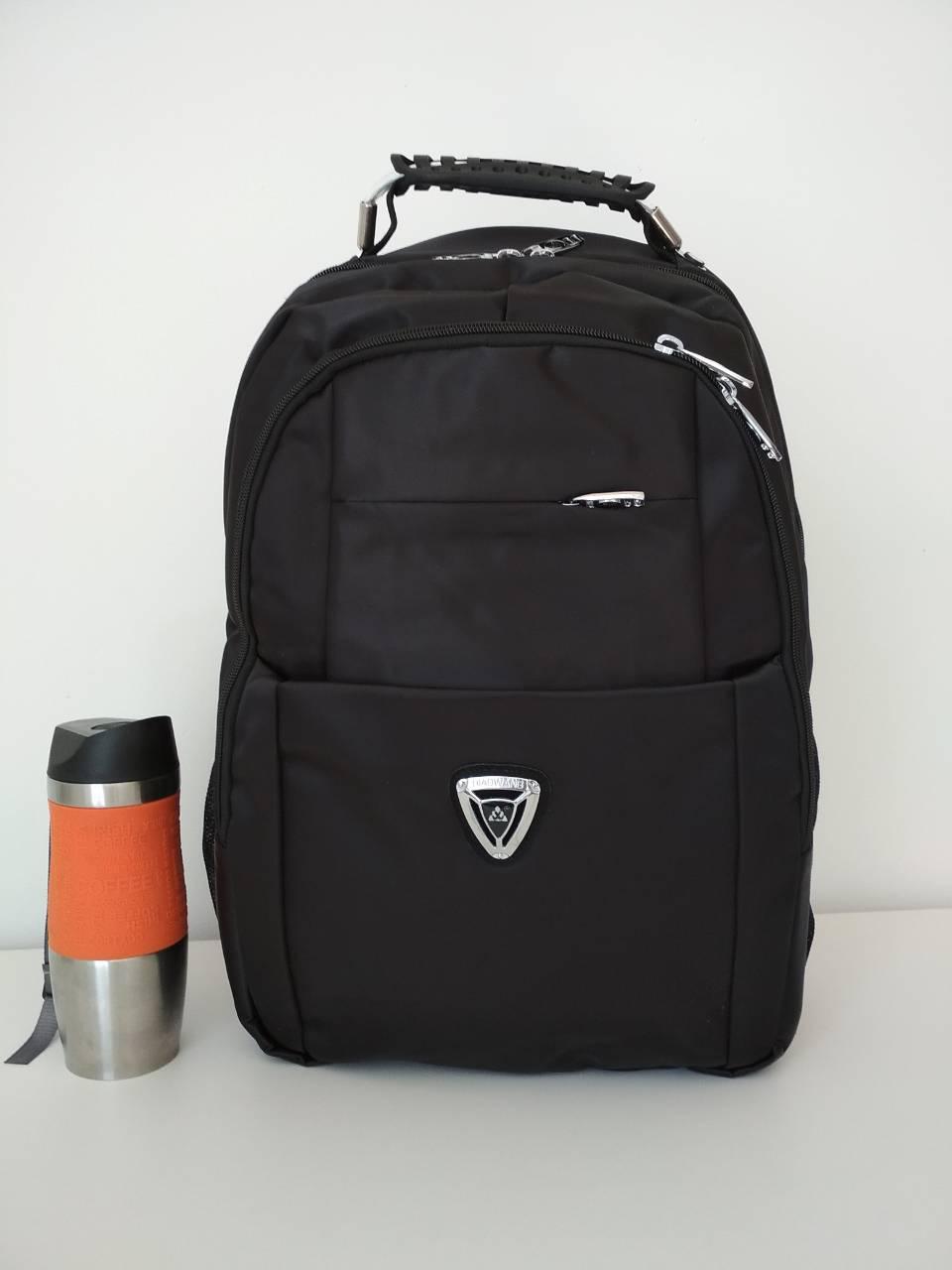 Черный школьный рюкзак для подростка с двумя отделениями 45*35*13 см