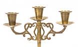 Бронзовий свічник на три свічки, лиття, бронза, Індія, фото 5