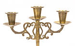 Бронзовый подсвечник на три свечи, литье, бронза, Индия, фото 5