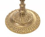 Бронзовий свічник на три свічки, лиття, бронза, Індія, фото 6