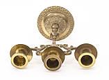 Бронзовый подсвечник на три свечи, литье, бронза, Индия, фото 8