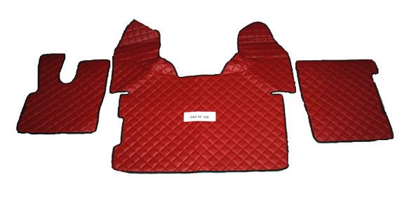 Коврики в салон Daf XF106 красные (еко кожа) для грузовиков(6867)