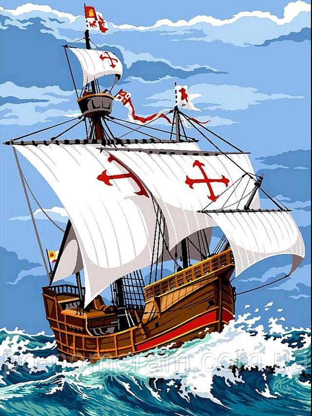 Разрисовки для мальчиков корабль