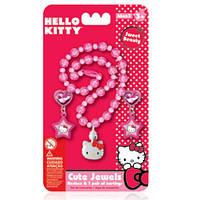 Детский набор украшений Hello Kitty ожерелье и сережки