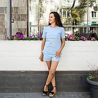 Костюм с шортами  для кормления - Голубой