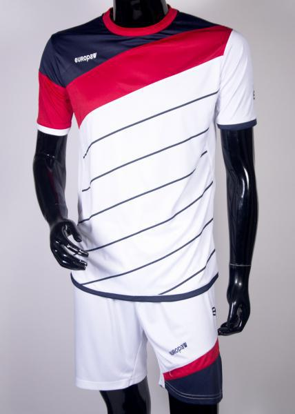 Футбольная форма Europaw 008 бело-красная ( XS, S )