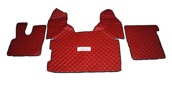 Копия Коврики в салон Daf XF106 красные (еко кожа) для грузовиков(6867)