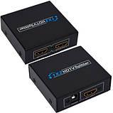 Разветвитель (сплиттер) HDMI (1 гнездо HDMI - 2 гнезда HDMI), DC-5V, фото 2