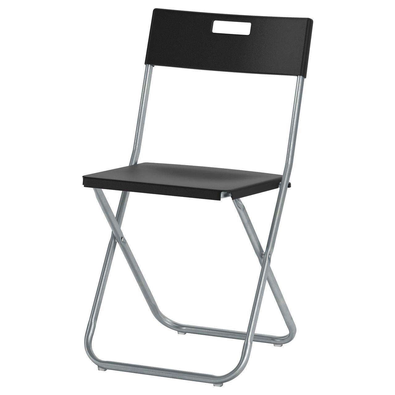 ✅ IKEA GUNDE (002.177.97) Складной стул, черный