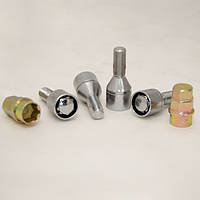 Комплект болтов (секретки) ZW Конус (M12x1,5x27) LB 008 (4+2 Ключа) PLASTIC PACK