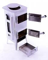 Печь буржуйка стальная 160 м2 7 шамотных кирпичей (шамотная піч стальна шамотної цегли), фото 1
