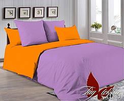 Однотонный двуспальный семейный комплект постельного белья P-3520(1263)