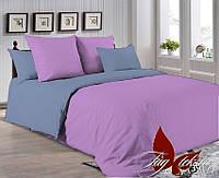 Однотонный двуспальный семейный комплект постельного белья P-3520(3917)