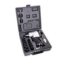 Гайковерт пневматический в чемодане + набор головок 17ед, 1/2 Intertool PT-1101