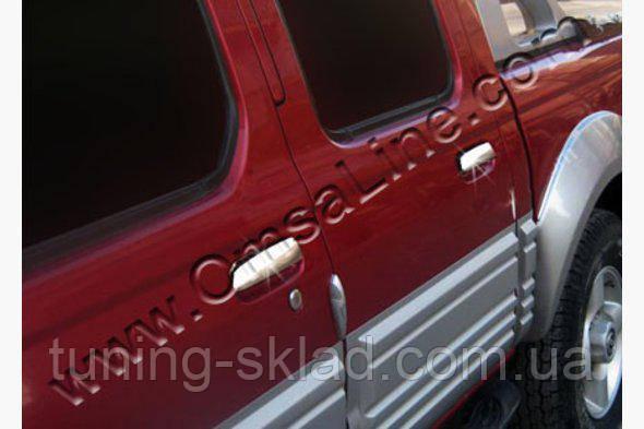 Хром накладки на ручки (4 шт, нерж) Nissan NP300 D22  (Ниссан)