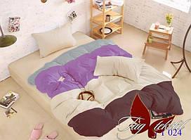 Евро комплект постельного белья Color mix APT024