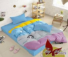 Евро комплект постельного белья Color mix APT028
