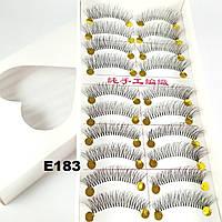 Ленточные пучковые ресницы 10 пар (2 вида основы)