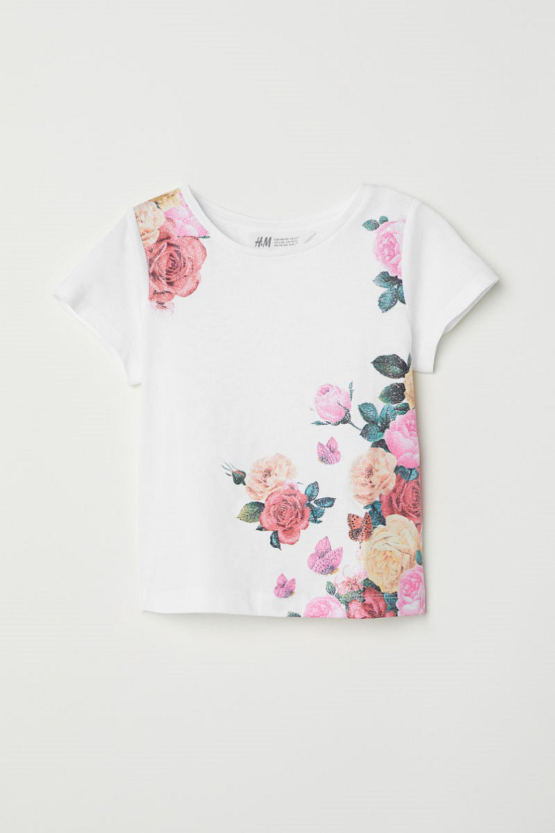 Футболка H&M Jersey Top with Printed Design 6-8 лет