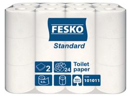 """Туалетная бумага 9,9 метра """"Fesko"""" (24 рул.)"""