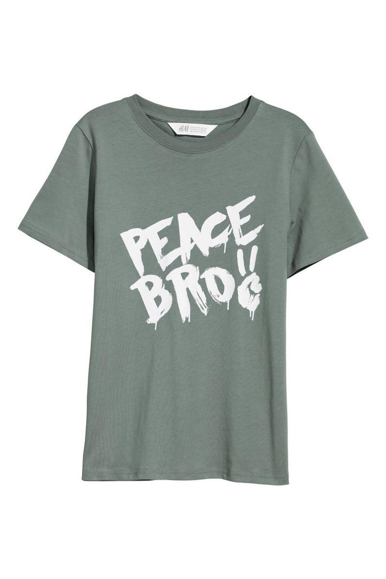 Футболка H&M T-shirt with Printed Design
