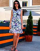 Летнее платье с воланом для кормления - Тропики