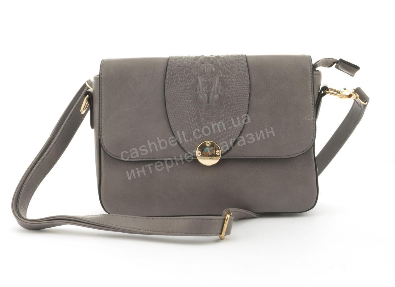 e11e8a2001a7 Оригинальная небольшая женская каркасная сумочка клатч Скорпион art.F-2888  серая - Ремешок и