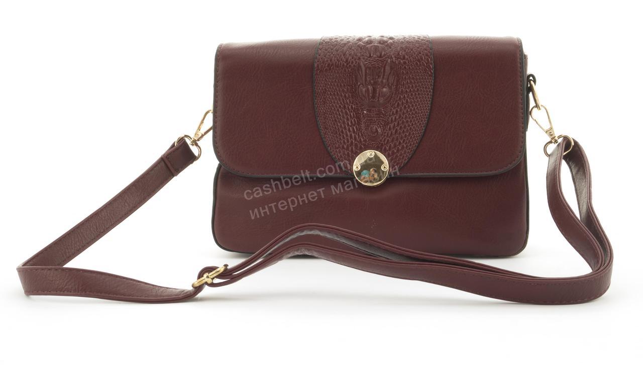 Оригинальная небольшая женская каркасная сумочка клатч Скорпион art.F-2888 бордовая