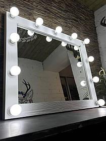 Зеркало с подсветкой Mens ДСП Ильм Вермут 12 ламп (Markson TM)