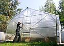 Теплица двускатная 5х6 под сотовый поликарбонат 8 мм стандарт, фото 8