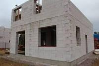 Строительство из газоблока и кирпича  дом
