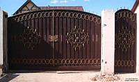 Кованные ворота с крепкого металла, фото 1