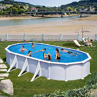 Каркасный морозоустойчивый бассейн ATLANTIS Oval 730 x 375 x 132 cm с лестницей и фильтром