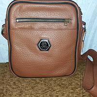 Мужская сумка из натуральной кожи коричневая