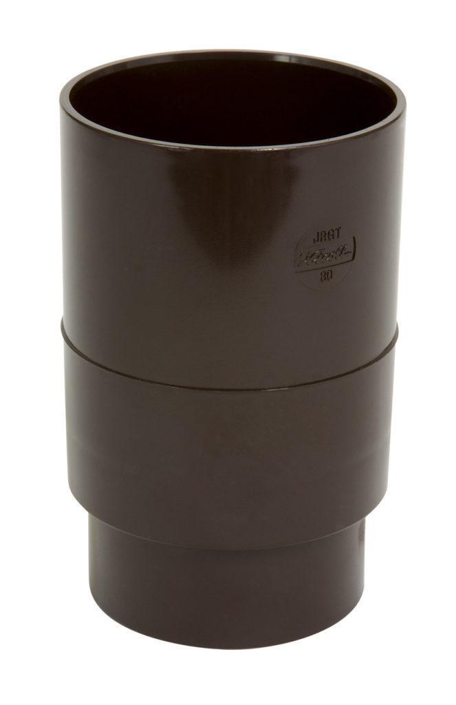 Муфта трубы Nicoll, Д=80мм, цвет коричневый