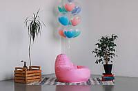 Розовое кресло-мешок груша 100*75 см из ткани Оксфорд, фото 1