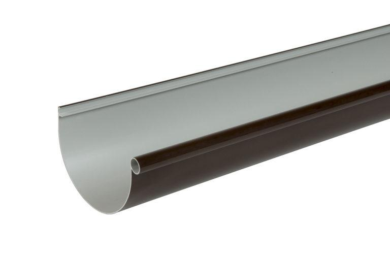Жёлоб водосточный Nicoll Д=115мм, дл.=4000мм, цвет коричневый