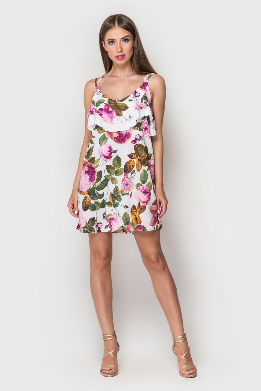 Платье летнее с  рюшей «Яна»