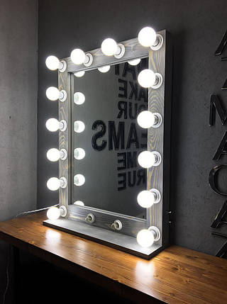Зеркало с подсветкой (12 лампочек) Mens M606 Светло-серый (Markson TM), фото 2