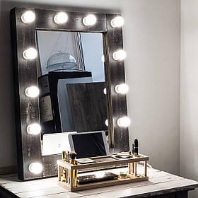 Зеркало с подсветкой Mens ДСП Венге 12 ламп (Markson TM)