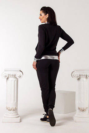 Женский спортивный костюм черного цвета, фото 2
