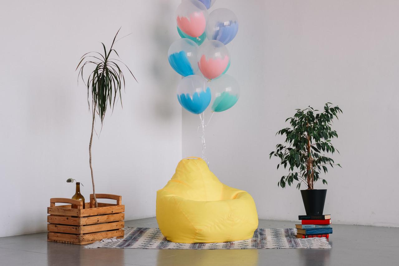 Желтое кресло-мешок груша 100*75 см из ткани Оксфорд, фото 1