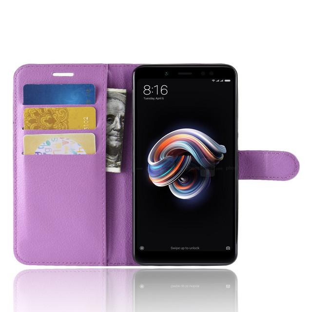чохол Xiaomi redmi note 5 книжка бузковий