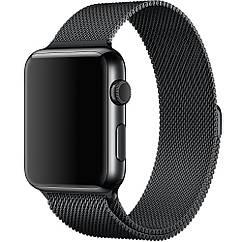 Ремешок Milanese Loop Миланская петля для Apple Watch 38/40mm Series 1/2/3/4 - Black
