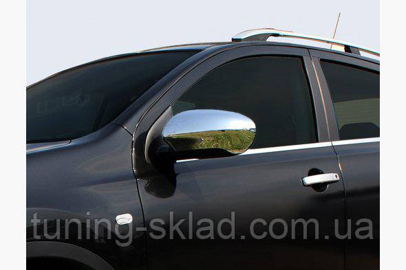 Хром накладки на зеркала Nissan Qashqai 2007-2010  (Ниссан Кашкай)
