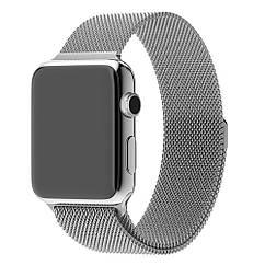Ремешок Milanese Loop Миланская петля для Apple Watch 38/40mm Series 1/2/3/4- Silver