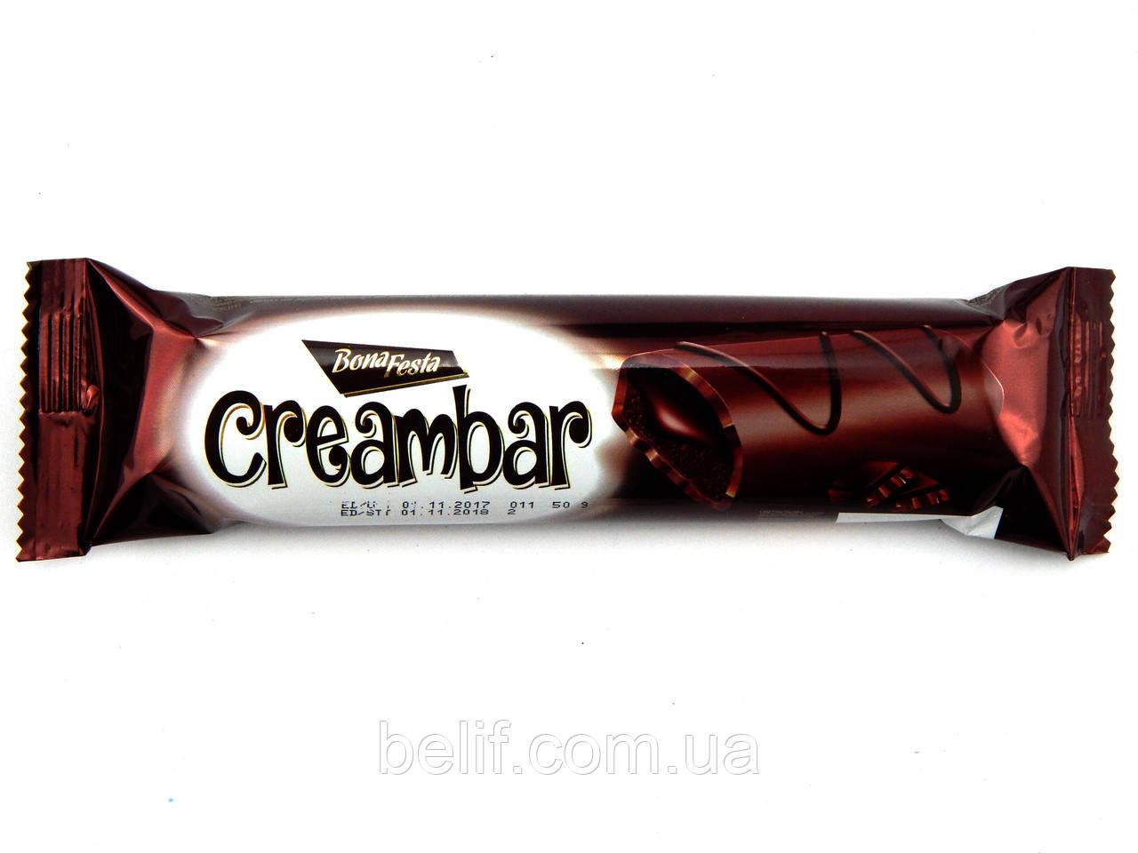 """Бісквіт """"BONA FESTA"""" ваніль з какао та шоколодним соусом 25грх24х6"""